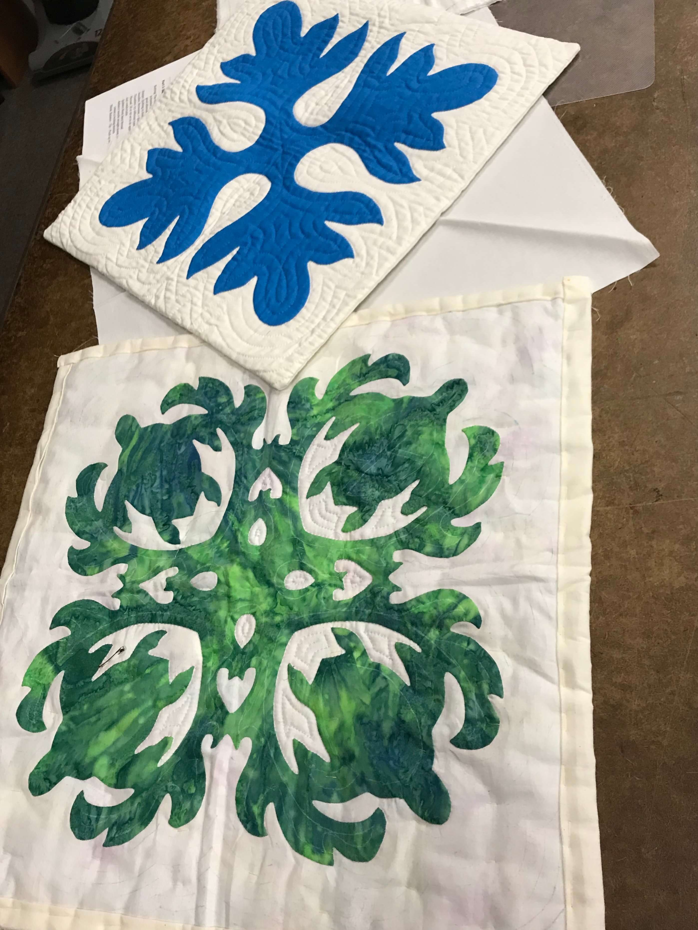 Hawaiian Quilting Workshop May 2019 Silver City Quilt Guild